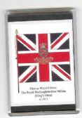 ROYAL BUCKS MILITIA COLOURS 1815 LARGE FRIDGE MAGNET